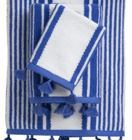 Caro Home Towel Stripes White Blue