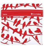 3greenmoms Reusable Sandwich Bag Red Birds (Velcro)