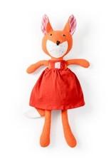 Hazel Village Stuffed Animal Flora Fox in Strawberry Red Jumper