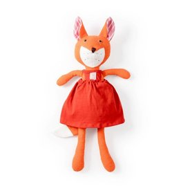 Hazel Village Stuffed Animal Flora Fox in Strawberry Red Jumper
