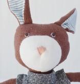 Hazel Village Lucas Rabbit in Stormy Gray Romper