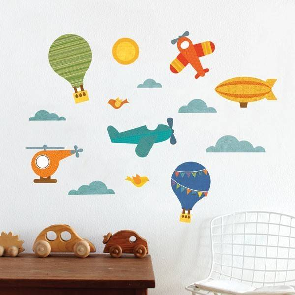 Petit Collage Fabric Wall Decal By Air