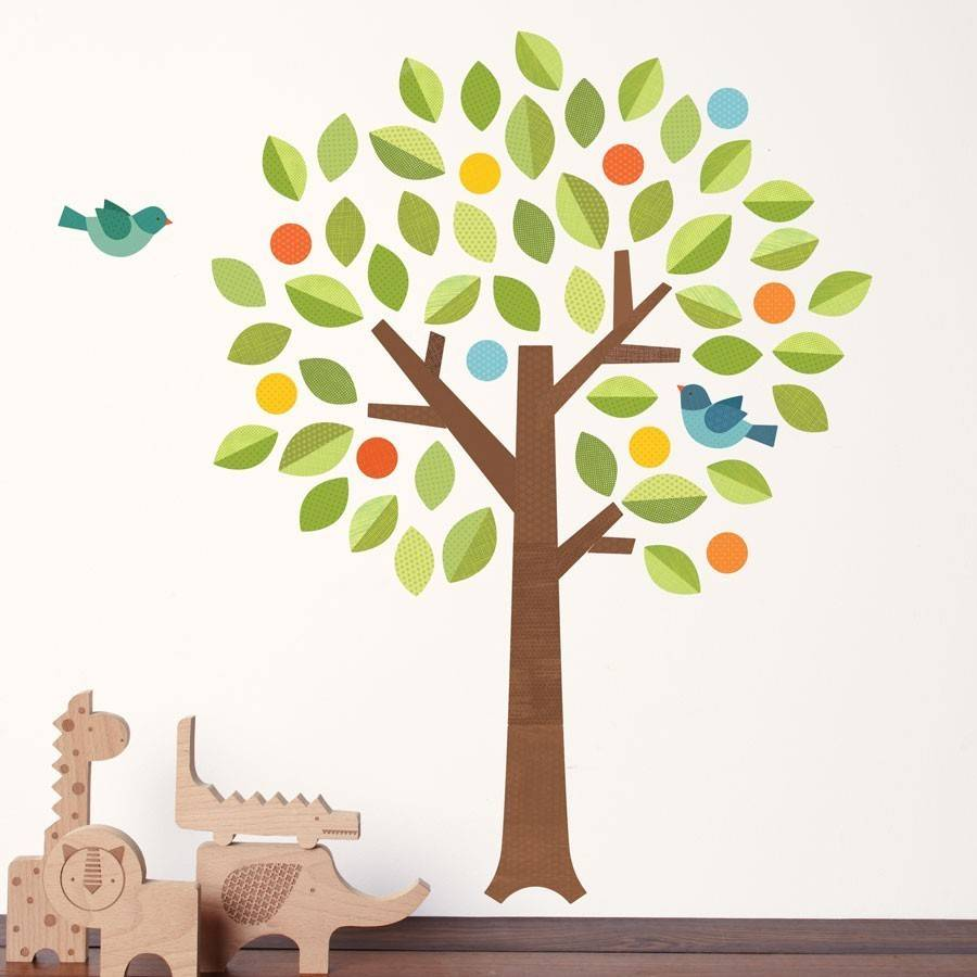 Petit Collage Fabric Wall Decal Polka Dot Tree