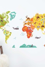 Petit Collage Fabric Wall Decal World Map