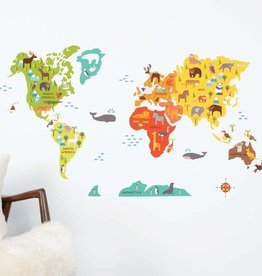 Find discounted kreatelier products here kreatelier petit collage fabric wall decal world map gumiabroncs Choice Image