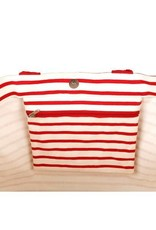Rockflowerpaper Bateau Stripe Red Carryall Tote