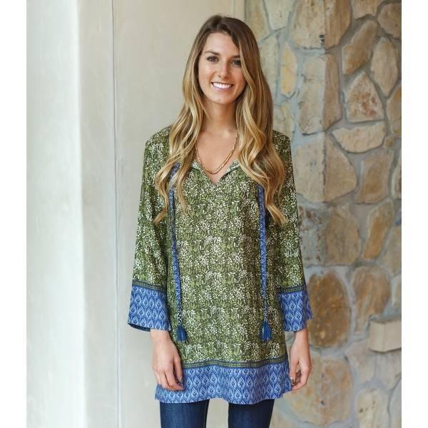 Rockflowerpaper Juliet Green Tassel Tunic