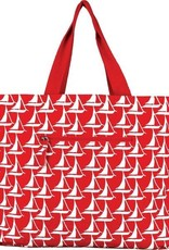 Rockflowerpaper Bateau Stripe Red Reversible Tote