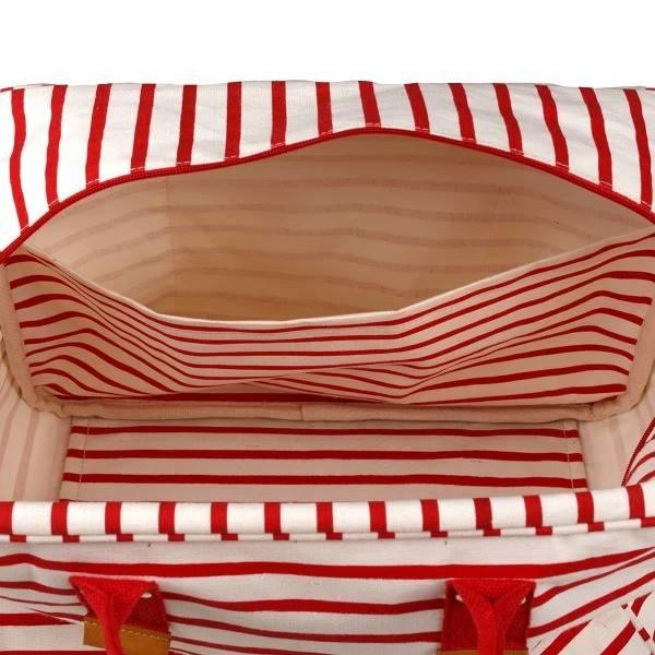 Rockflowerpaper Bateau Stripe Red Overnighter