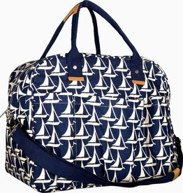 Rockflowerpaper Sailboat Navy Overnighter