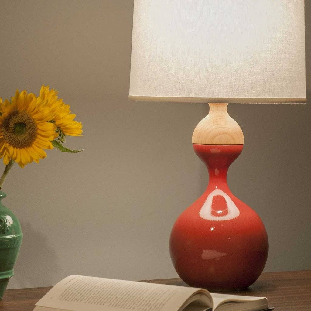 J Schatz Kuni Juu Table Lamp Red Large