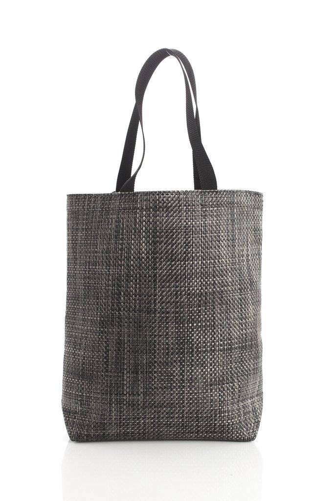 Chilewich Basketweave Tote Carbon