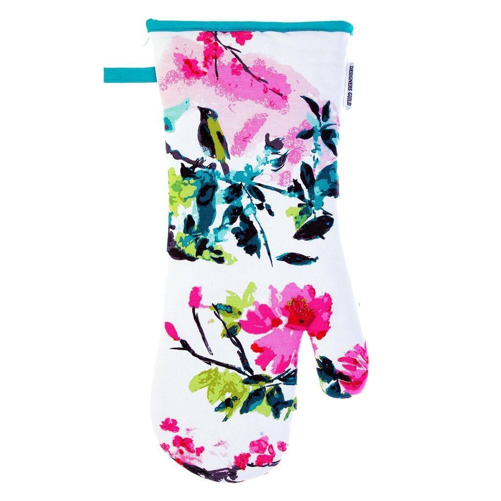 Designers Guild Chinoiserie Gaunlet Peony Oven Glove
