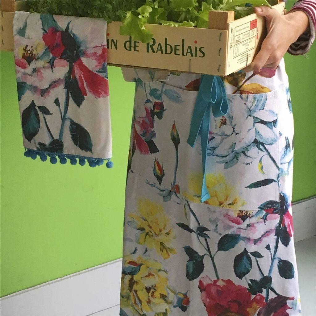 Designers Guild Couture Rose Apron Fuchsia