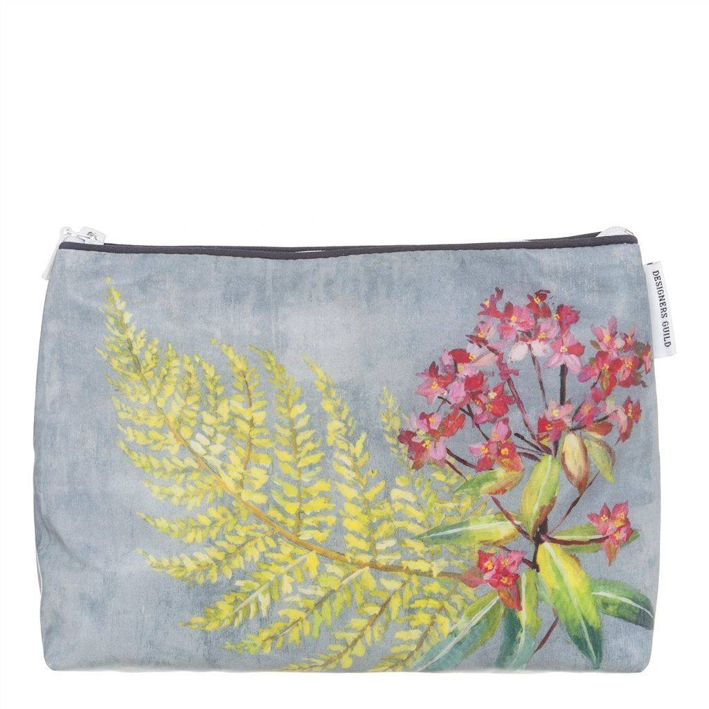 Designers Guild Tulipani Graphite Medium Toiletry Bag