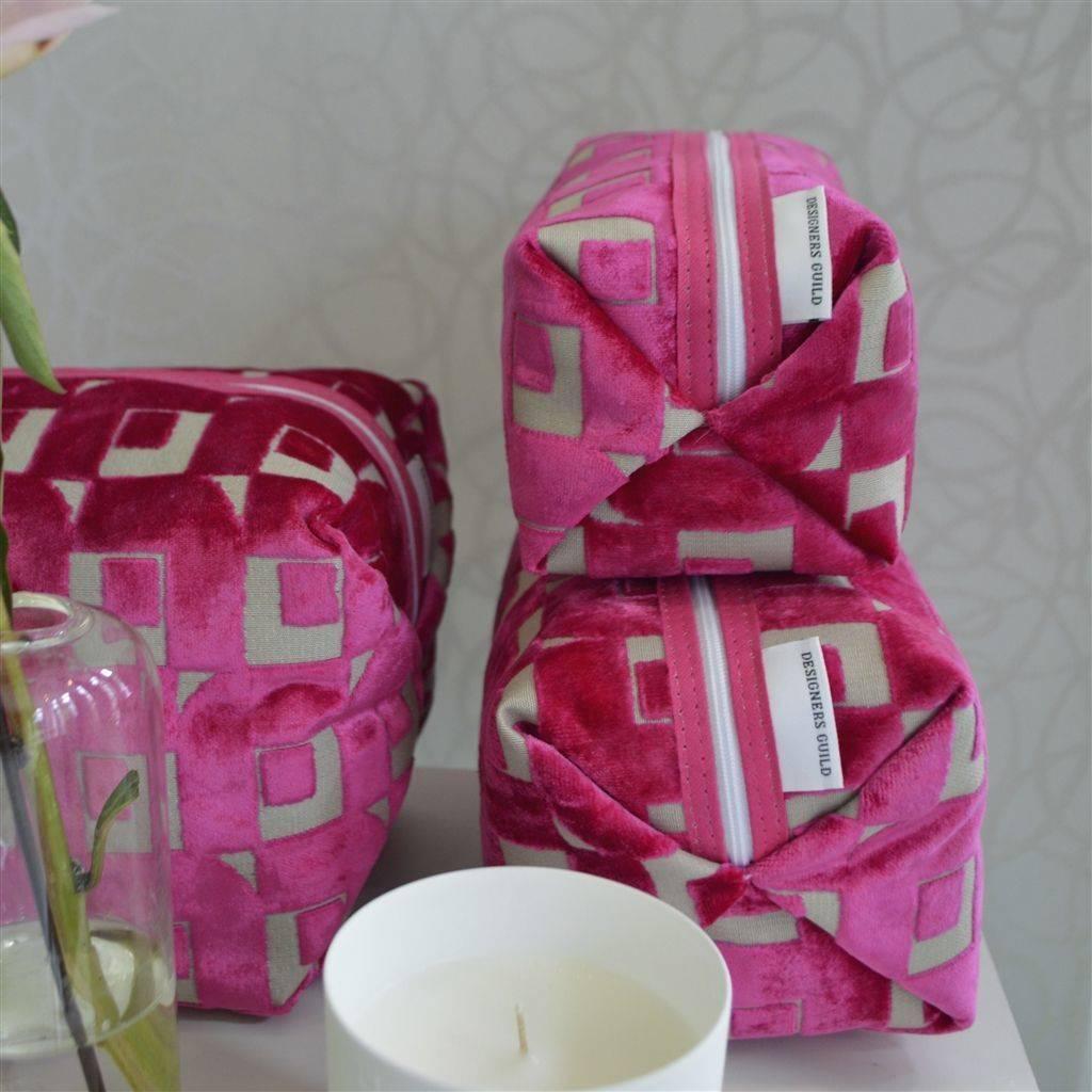 Designers Guild Pugin Fuchsia Medium Toiletry Bag