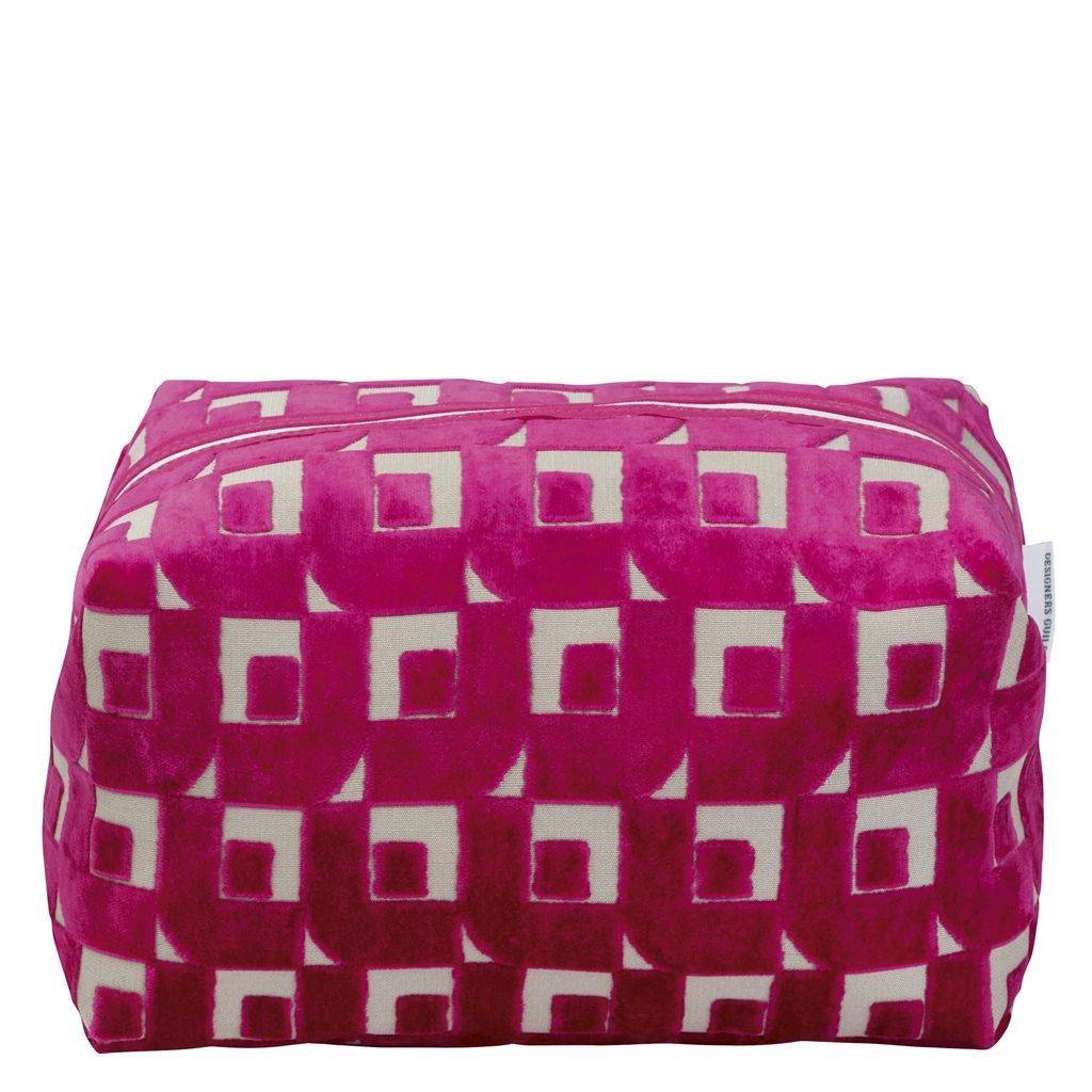 Designers Guild Pugin Fuchsia Large Toiletry Bag