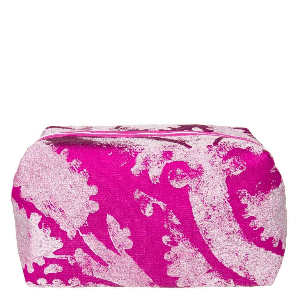 Designers Guild Majella Fuchsia Large Toiletry Bag