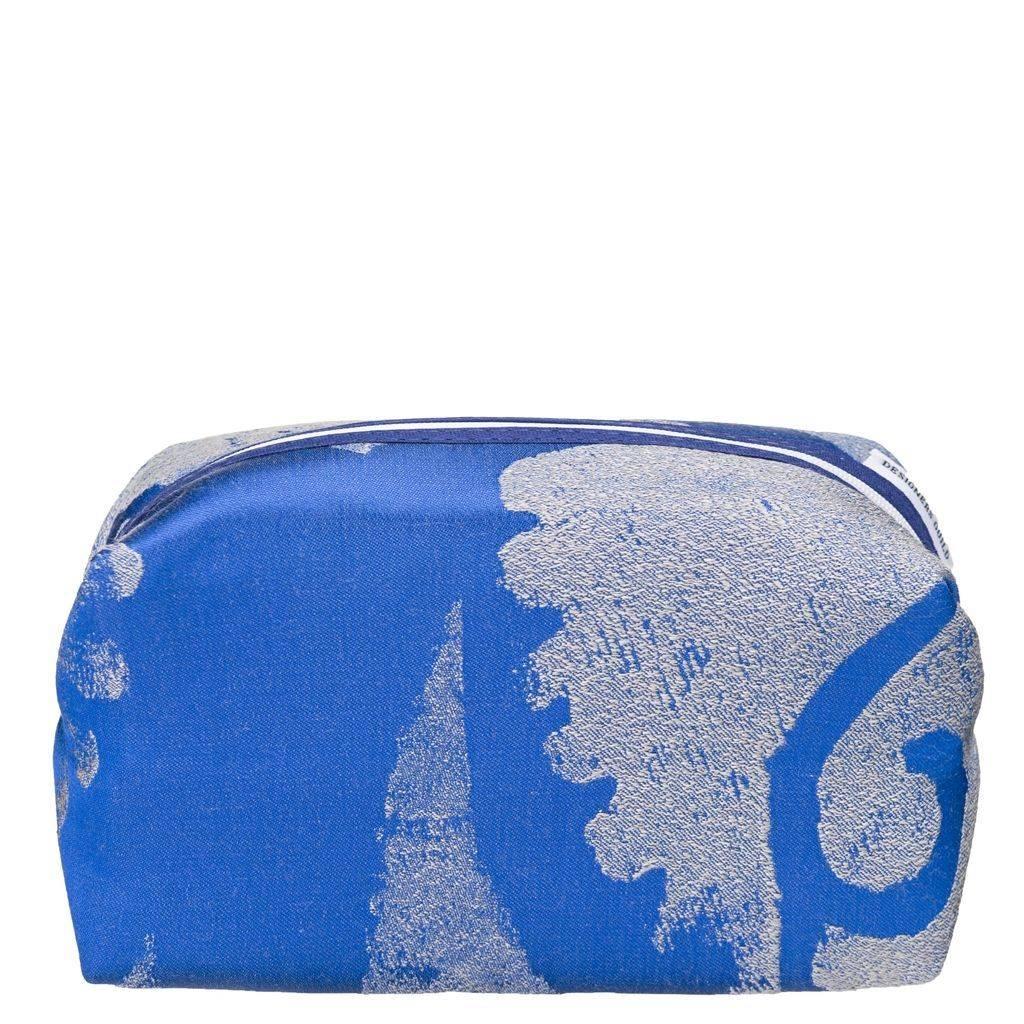 Designers Guild Majella Cobalt Large Toiletry Bag