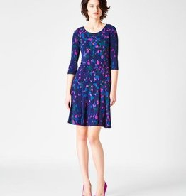 Leota Kelsey Dress Navy Prism L