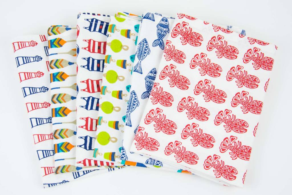 Rockflowerpaper Red Lobster Kitchen Towels