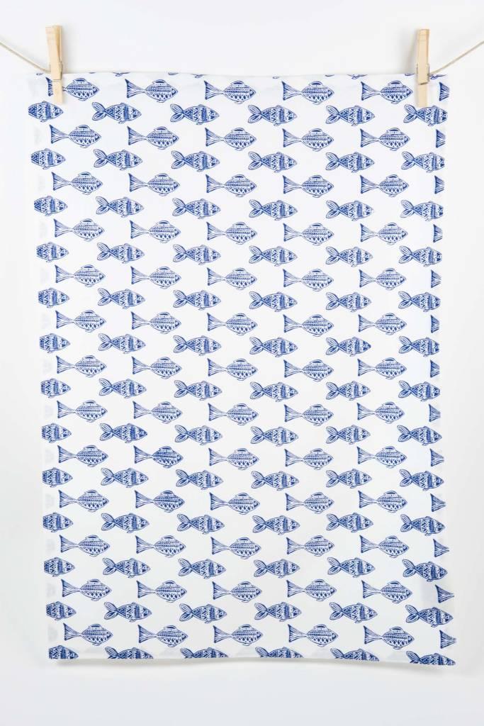 Rockflowerpaper Fish Kitchen Towels