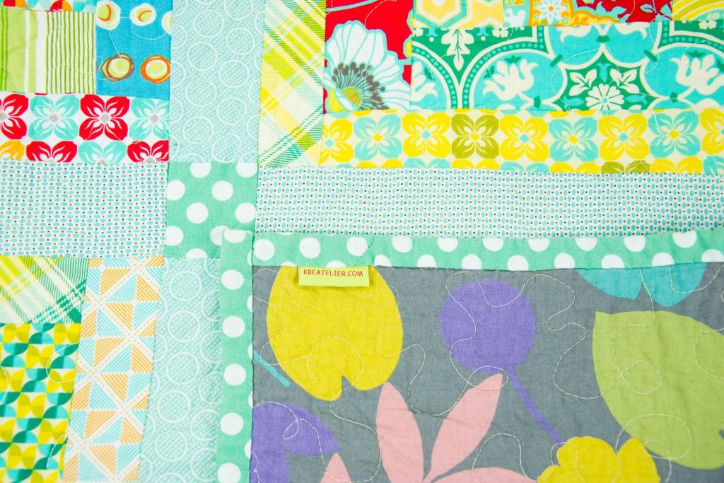 Kreatelier Baby Quilt Teal Patchwork