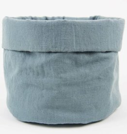 Linen Bread Basket French Blue