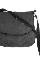 Helping Hand Partners Large Messenger Bag Charcoal