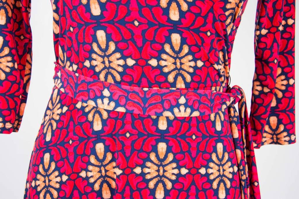 Leota Perfect Wrap Brac Slv Mini Dress Terazzo