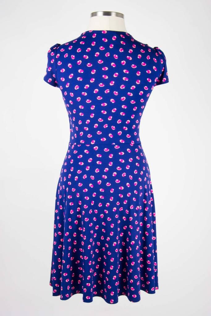 Leota Sweetheart Dress Martini Dot Navy