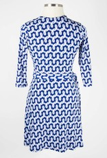 Leota Perfect Wrap Brac Slv Mini Dress Curlicue