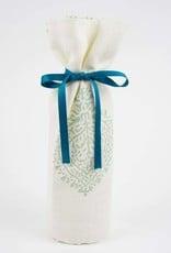 Kreatelier Bottle Gift Bag Blue Block Print
