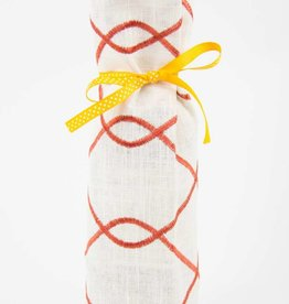 Kreatelier Bottle Gift Bag Orange Swirl
