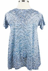Nally and Millie Printed S/SLV Tunic Multicolor