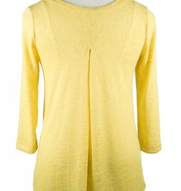 Nally and Millie Pleated Back Sheer Yellow
