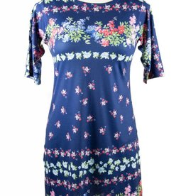 Nally and Millie Multicolor printed S/SLV Dress Navy