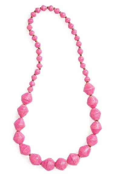31Bits Shine on Necklace Pink Sparkle
