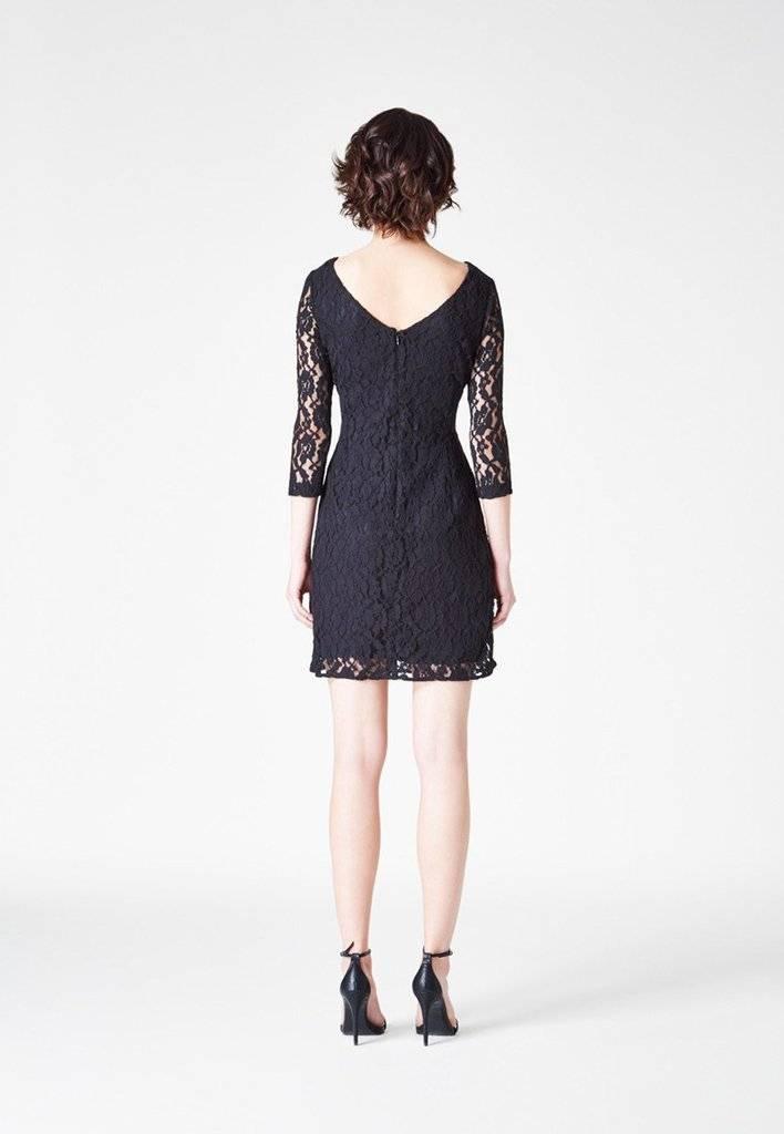 Leota Lace Shift Dress in Black S/M