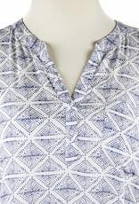 Side Stitch L/S Pocket Henley Suri Print