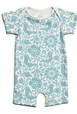 Winter Water Factory Summer Romper Birds & Flowers Turquoise