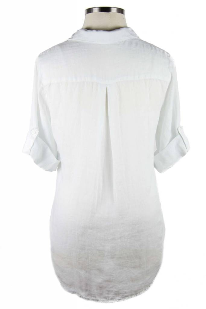 Side Stitch Roll Tab Tunic Crystal