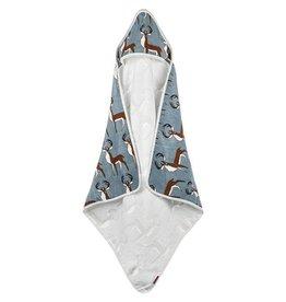 Milkbarn Hooded Towel in Blue Buck