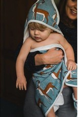 Milkbarn Hooded Towel Grey Whale