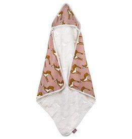 Milkbarn Hooded Towel in Rose Deer