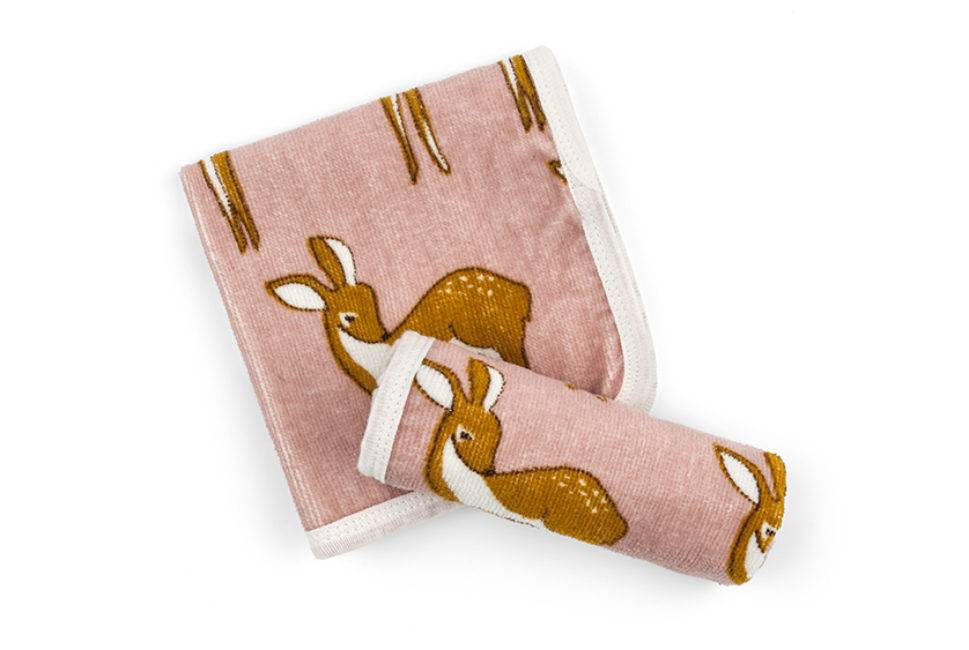 Milkbarn Bath Cloth Set Pink Doe