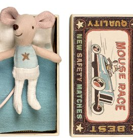 Maileg Mouse Little Brother Silver Star in Box