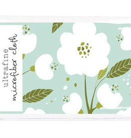 Gina B Designs Microfiber Cloth White Flowers