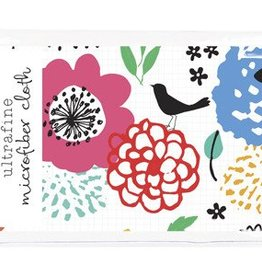 Gina B Designs Microfiber Cloth Birds and Colorful Flowers