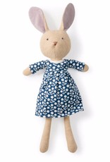 Hazel Village Stuffed Animal Juliette Rabbit Navy Berries Dress